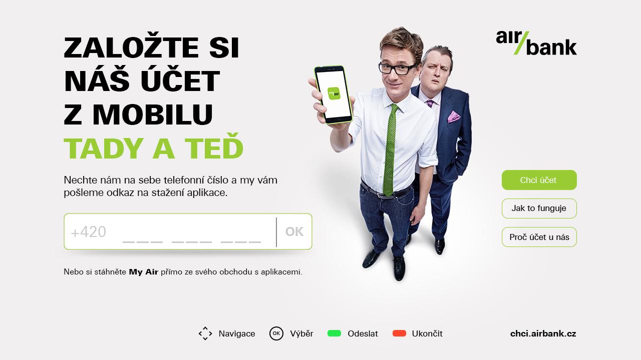 Nová interaktivní aplikace pro Air Bank
