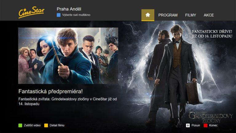 HbbTV aplikace CineStar