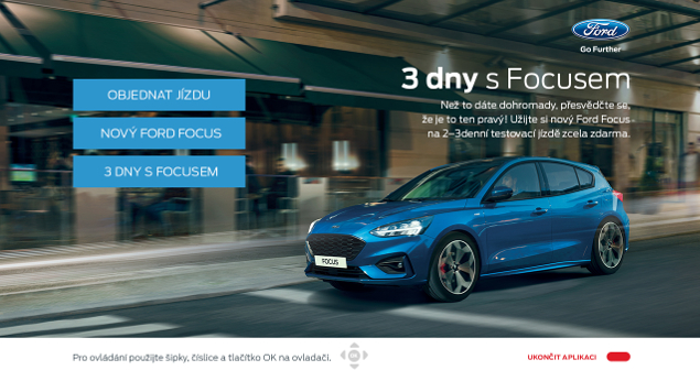První HbbTV aplikace pro značku Ford