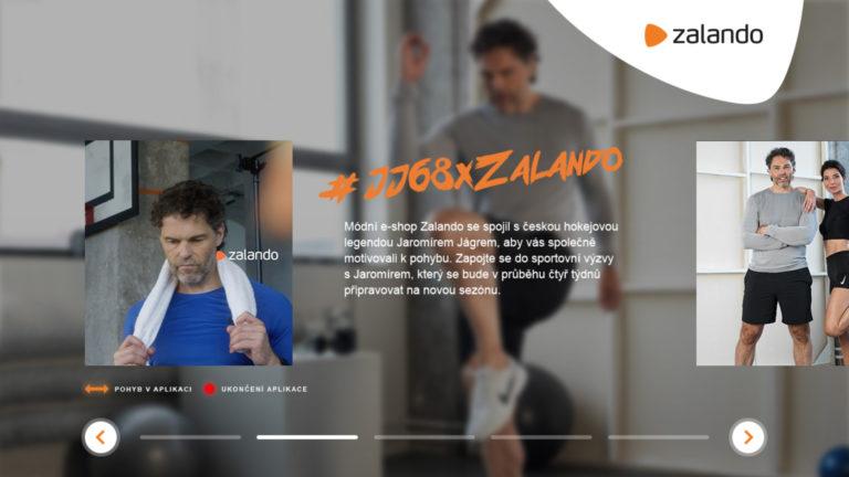 HbbTV aplikace Zalando